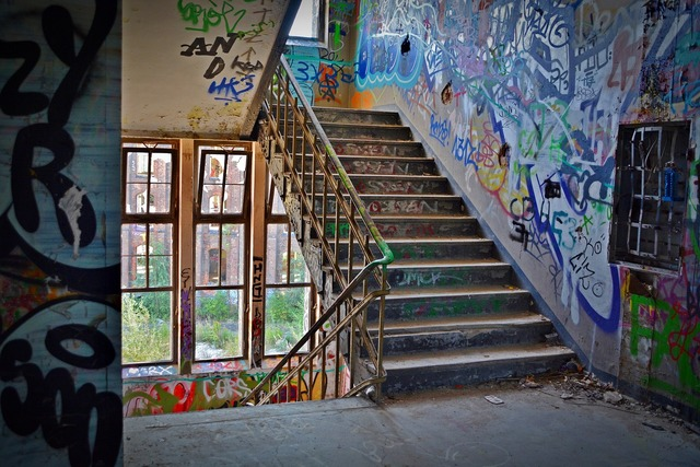 Lost places factory stairs, industry craft.