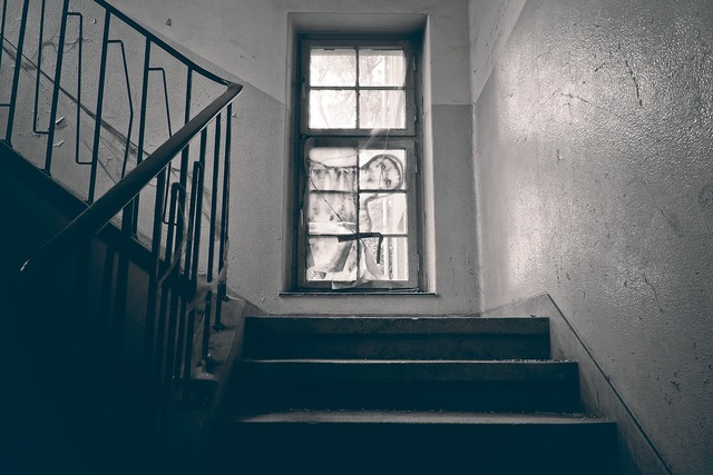 Lost places window stairs, architecture buildings.