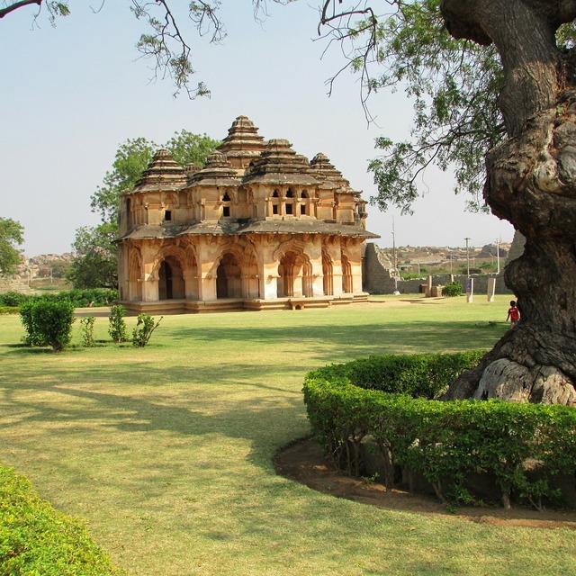 Lotus mahal hampi india, places monuments.