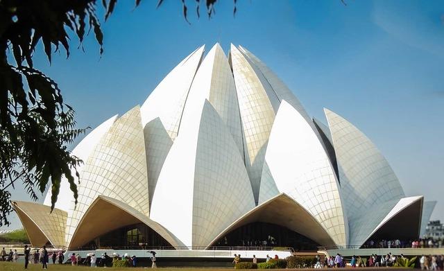 Lotus temple bahai monument, architecture buildings.