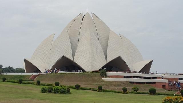 Lotus temple new delhi india.