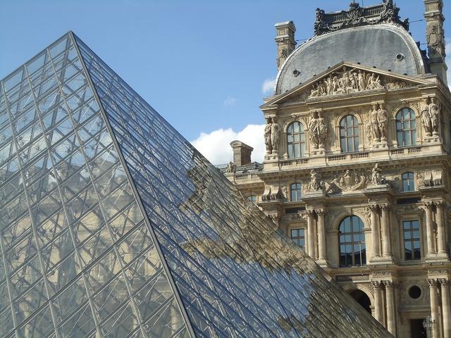 Louvre museum paris france, travel vacation.