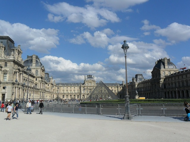 Louvre paris france, architecture buildings.