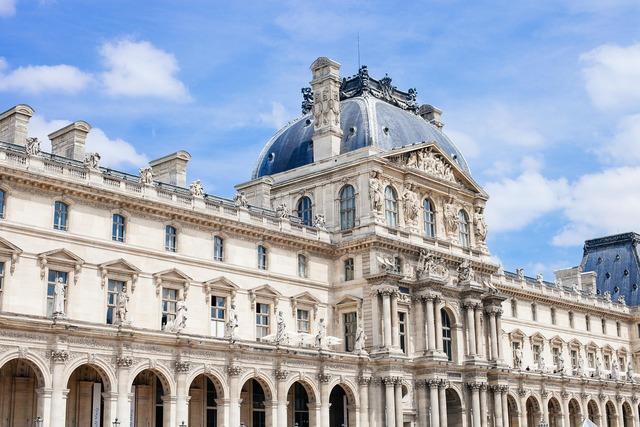 Louvre paris france, architecture buildings.