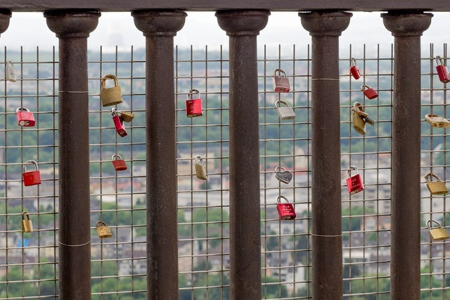 Love castle padlock, emotions.