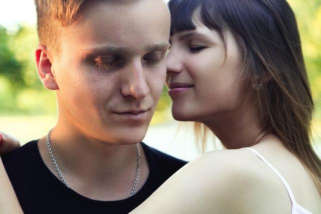Love couple romantic, emotions.