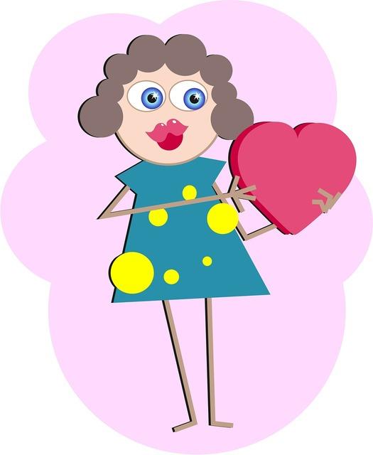 Love heart woman, emotions.