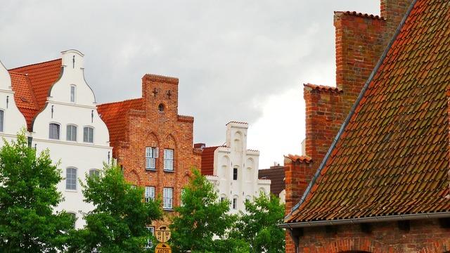 Lübeck hanseatic league brick, architecture buildings.