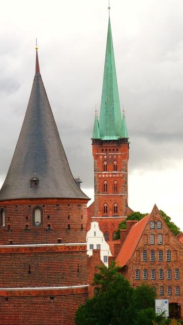 Lübeck hanseatic league gothic, architecture buildings.