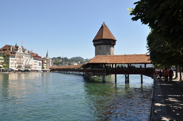 Lucerne chapel bridge switzerland.