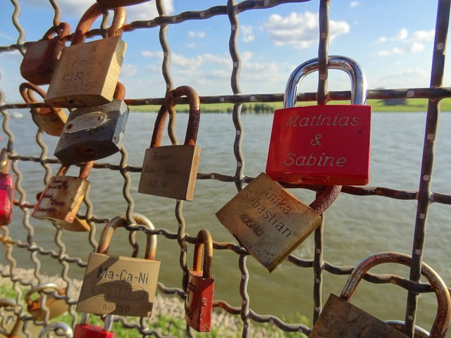 Luck castle padlock love, emotions.