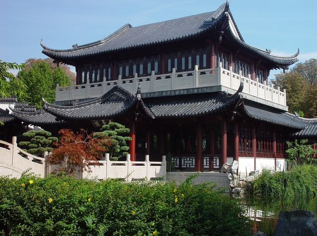 Luisenpark mannheim tea house.