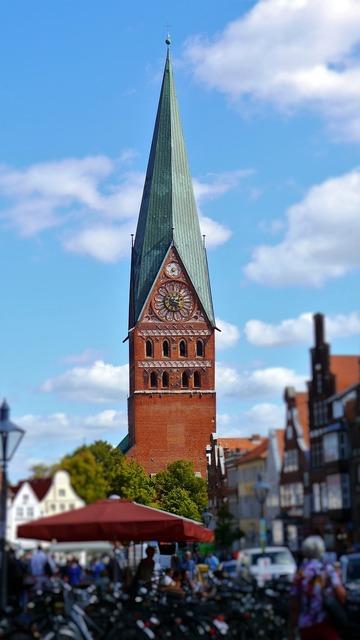 Lüneburg church steeple, religion.
