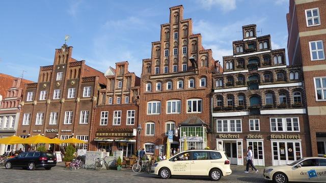 Lüneburg houses facades old houses.