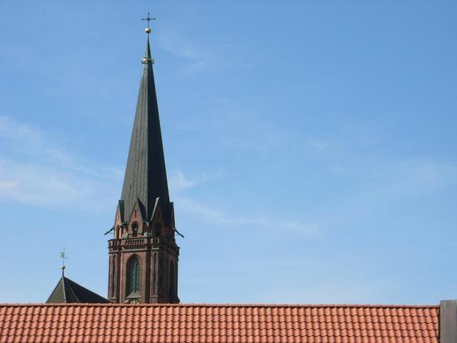 Lüneburg roofs church, religion.