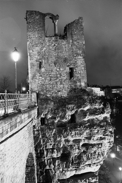 Luxembourg night the ruins of the.