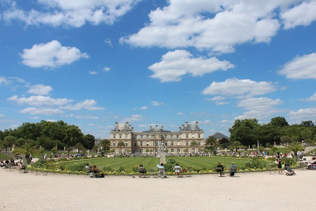 Luxembourg palace castle paris.