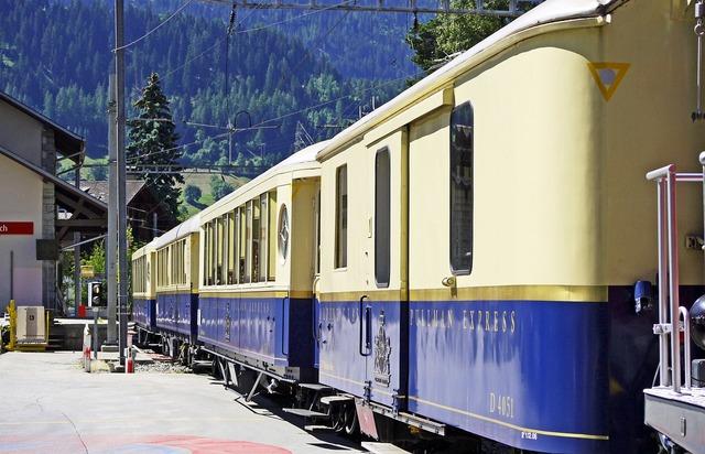 Luxury train alpine classic pullman express rhaetian railways, travel vacation.