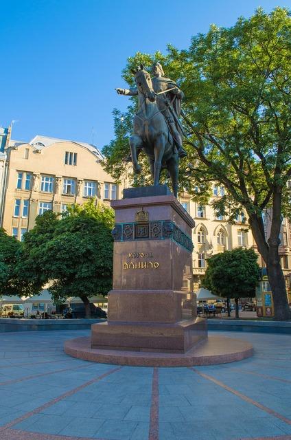 Lviv ukraine king, architecture buildings.
