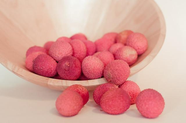 Lychee fruit pink, food drink.