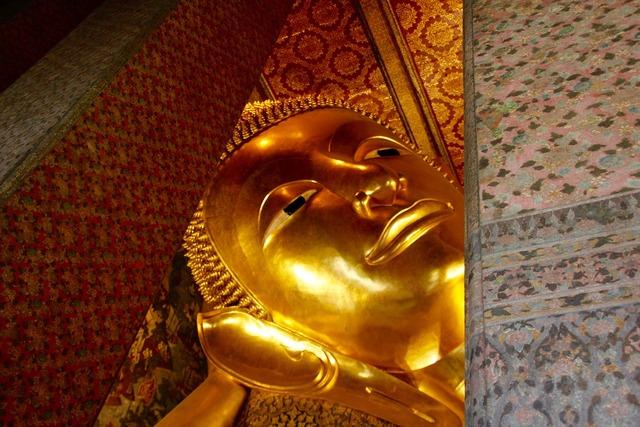 Lying buddha thailand, religion.