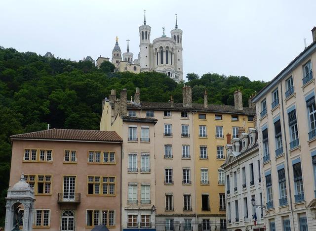 Lyon france old town, nature landscapes.