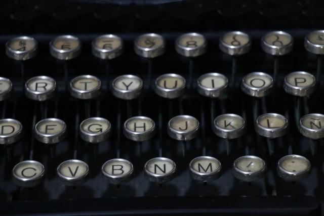 Lyrics typewriter text.