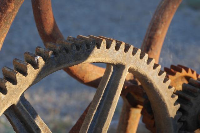 Machine gear mechanics.