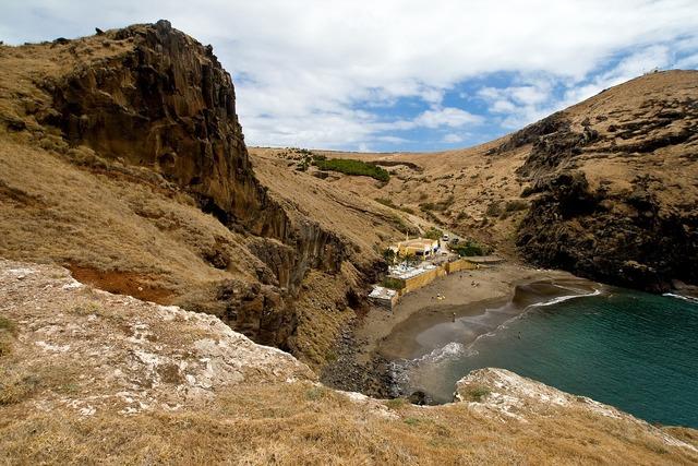Madeira booked rocky coast, travel vacation.