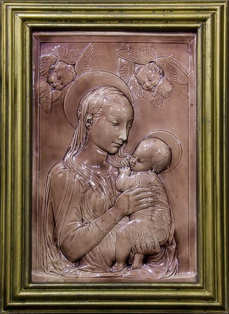 Madonna baby angels, religion.