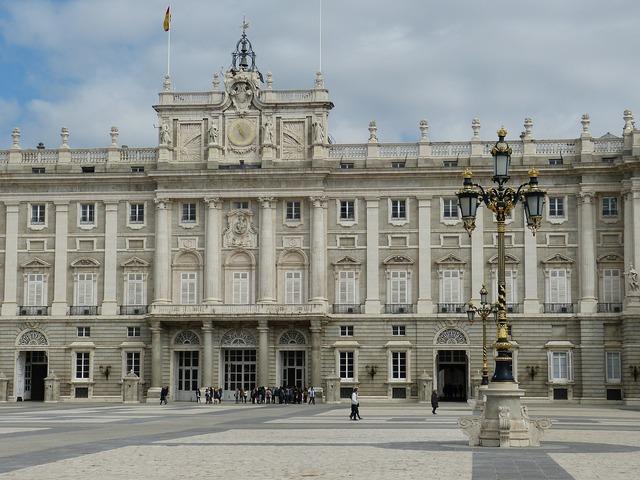 Madrid castle palace, architecture buildings.