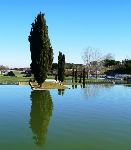 Madrid spain park.