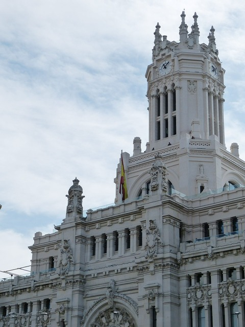 Madrid town hall spain, architecture buildings.
