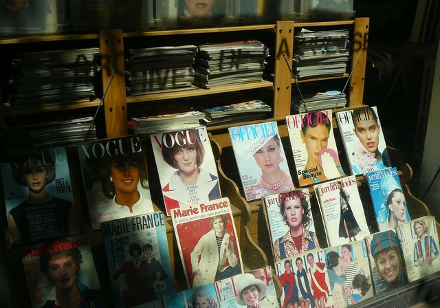 Magazine journal magazines, beauty fashion.