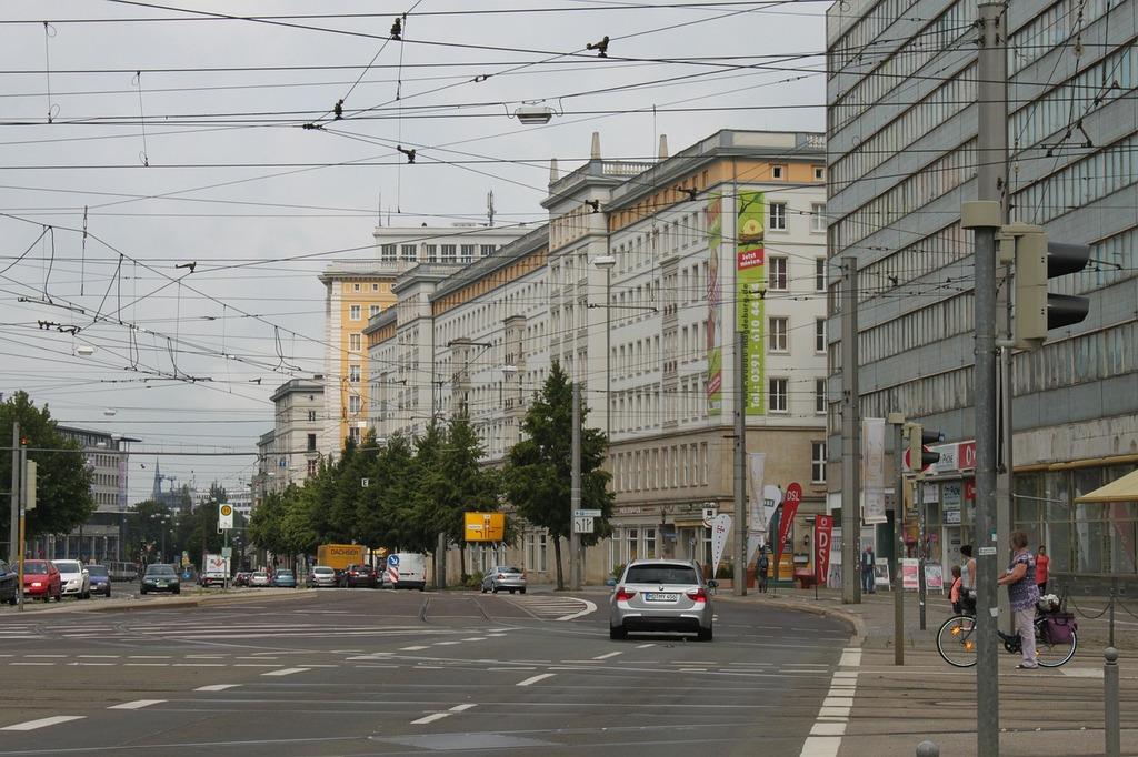 Magdeburg germany road, transportation traffic.