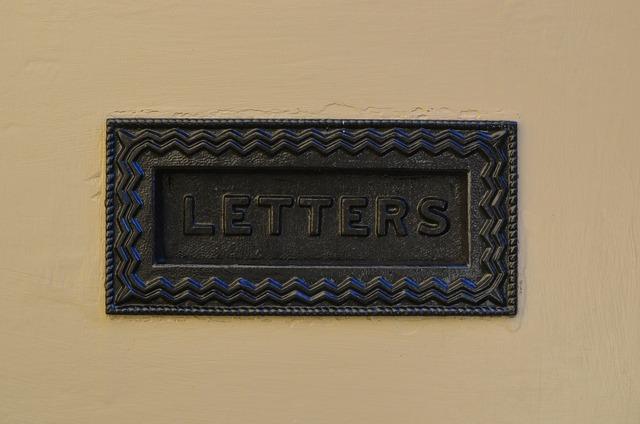 Mailbox letter door, computer communication.