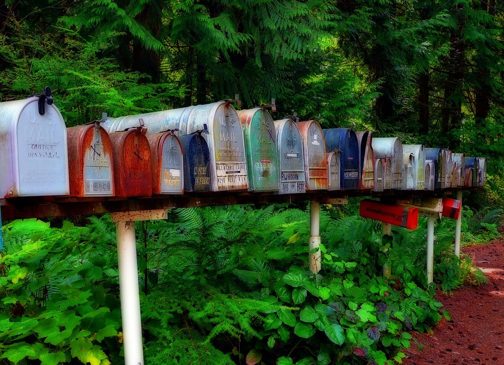 Mailbox postbox letters.