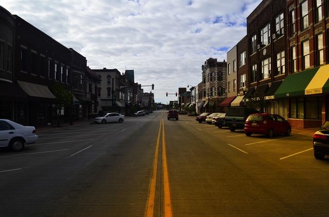 Main street usa, transportation traffic.