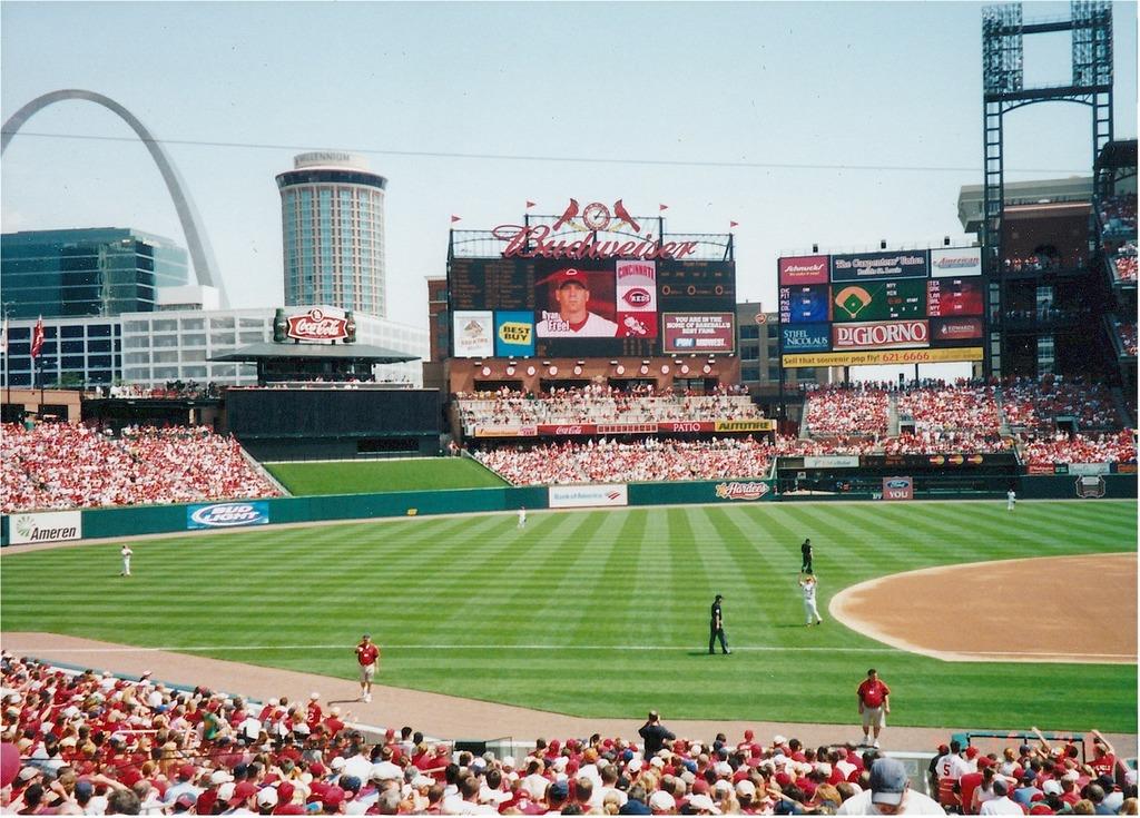 Major league baseball baseball stadium, sports.