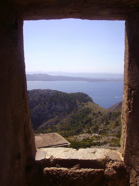 Majorca landscape door, nature landscapes.