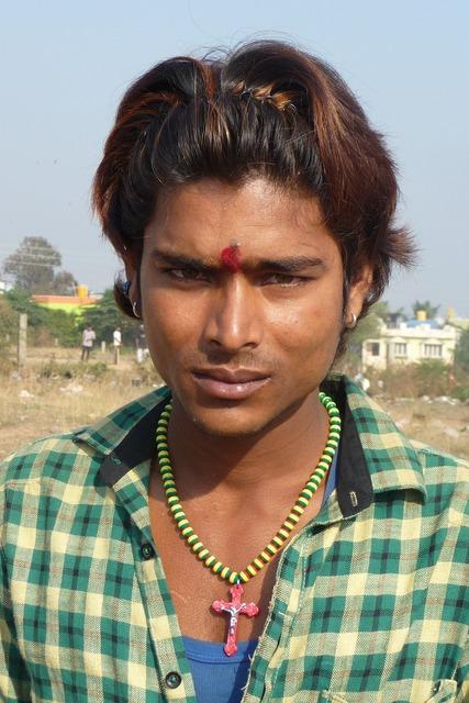 Male portrait india.