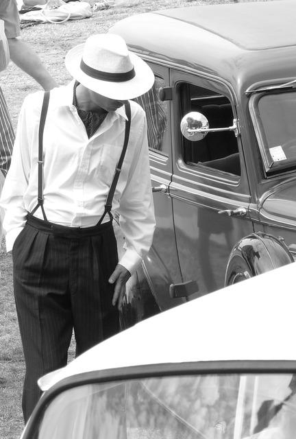Male retro 1920, transportation traffic.
