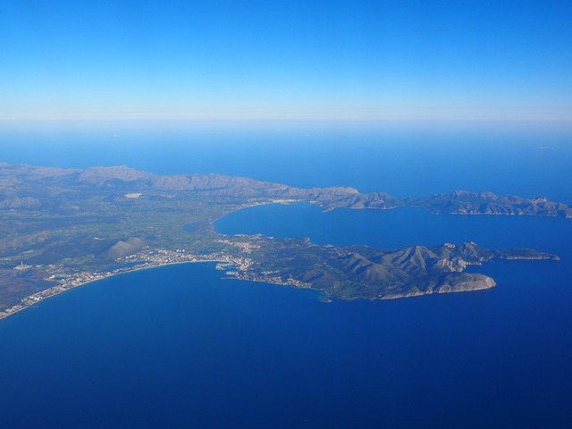 Mallorca bay of pollenca bay of alcudia, nature landscapes.