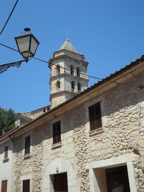 Mallorca church city view, religion.