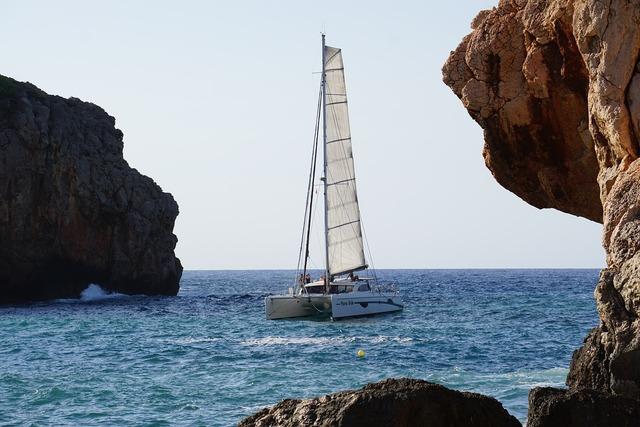 Mallorca sailing boat booked, nature landscapes.