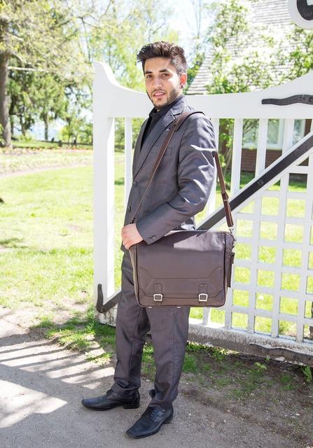 Man bag executive, people.