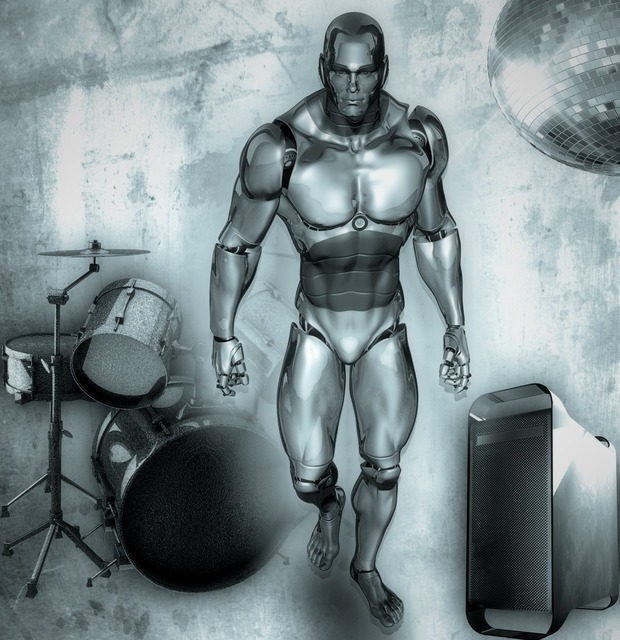 Man drums band, people.