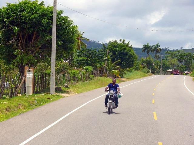 Man motorbike dominican, people.