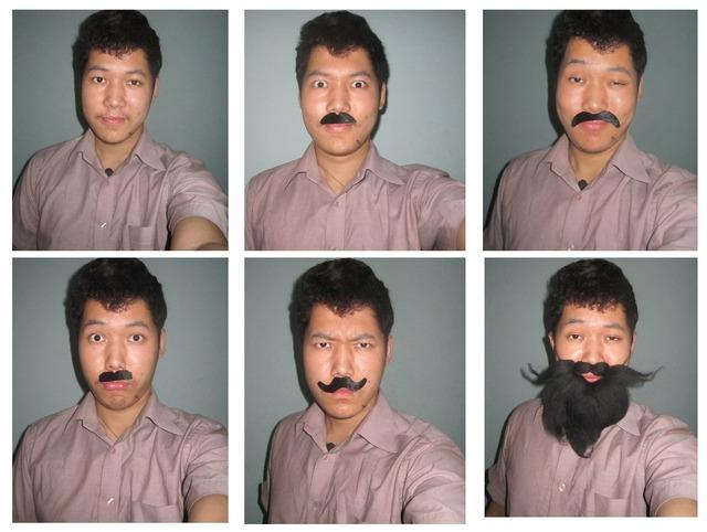 Man mustache beard, people.