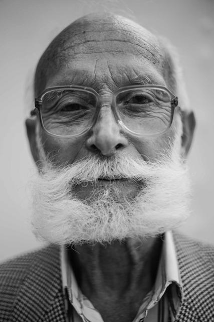 Man old beard, people.